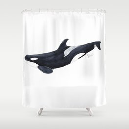 Orca killer whale Shower Curtain