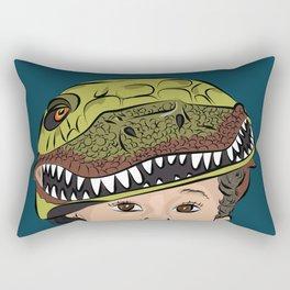 The Dino Helmet Rectangular Pillow