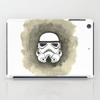 storm trooper iPad Cases featuring Storm Trooper Watercolor by Ozge Gul