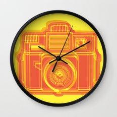 I Still Shoot Film Holga Logo - Yellow & Red Wall Clock