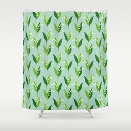 Lily of the Valley (Convallaria majalis) Shower Curtain