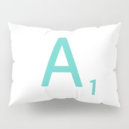 Blue Scrabble Letter A Pillow Sham