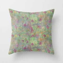 Multicolored abstract watercolor stains and brush strokes Throw Pillow