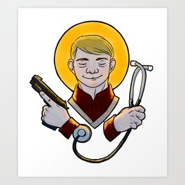 Sainted John Art Print