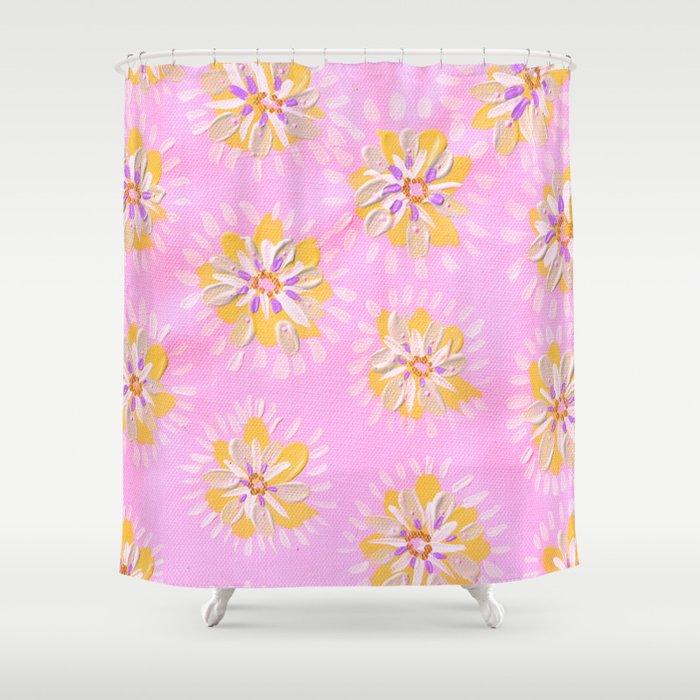 Tangerine Petal Rose Shower Curtain by annabelleroweart | Society6