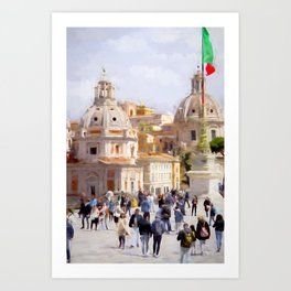 afternoon in Rome Art Print
