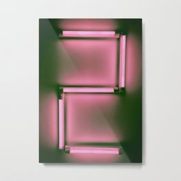 Countdown neon number, No2 Metal Print