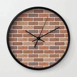 Red brick wall Wall Clock
