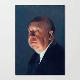 Alfred Hitchcock, Hollywood Legend Canvas Print