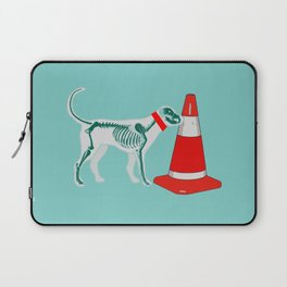 DOG SNIFING TRAFFIC RUBBER CONE Laptop Sleeve