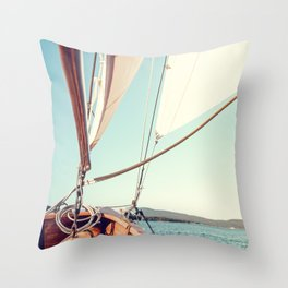 Setting Course x Nautical Art Throw Pillow
