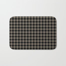 Classic Sandstone Brown Country Cottage Summer Buffalo Plaid Bath Mat