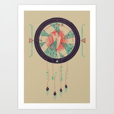 Digital Catcher Art Print