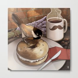 The Bagel Thief Metal Print
