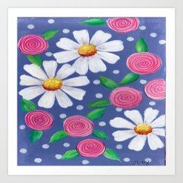 Daisey Pattern Art Print