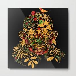 Gandhi Psychedelic Khokhloma Metal Print
