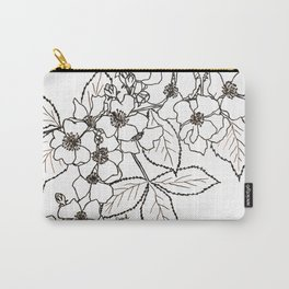 Vine Roses Carry-All Pouch