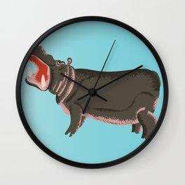 visit the zoo hippopotamus edition Wall Clock