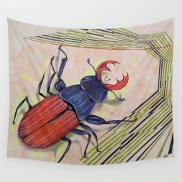The measurement of space / stag-beetle Wall Tapestry