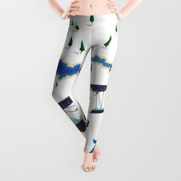 Pangong Tso India China map Leggings