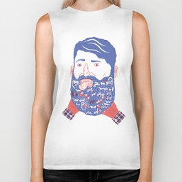 Animals in Beard Biker Tank