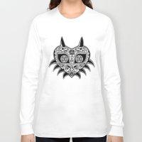 majoras mask Long Sleeve T-shirts featuring Sugarskull / Majoras mask / black'n'white by tshirtsz
