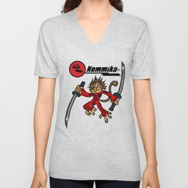 Space Monkey Unisex V-Neck
