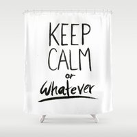 keep calm Shower Curtains featuring Keep Calm by Isableh