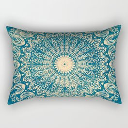 BLUE ORGANIC MANDALA Rectangular Pillow