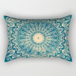 BLUE ORGANIC MANDALA Rectangular Pillow