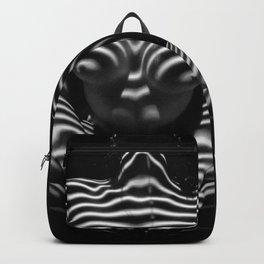 1152-MAK Abstract Nude Black & White Zebra Striped Woman Topographic Feminine Body Backpack