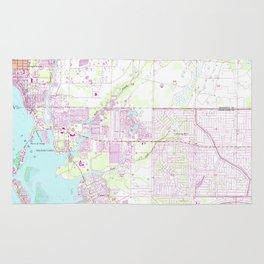 Vintage Map of Englewood & Grove City FL (1956) Rug