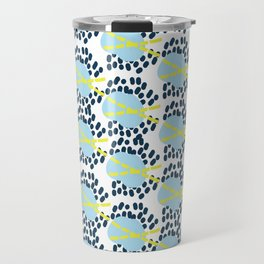 Leila - Abstract pattern, textile design  Travel Mug