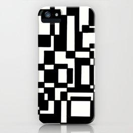 Squares Black´n´White iPhone Case