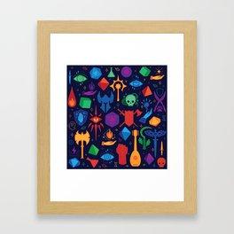 DnD Forever - Color Framed Art Print