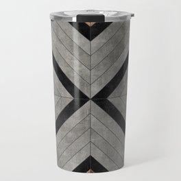 Urban Tribal Pattern No.2 - Concrete and Wood Travel Mug