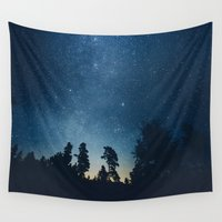 astronomy Wall Tapestries featuring Follow the stars by HappyMelvin