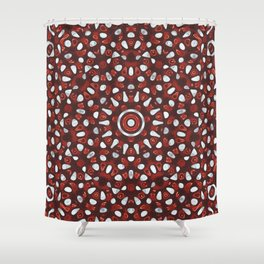 Cherry Ice cream Mandala Shower Curtain