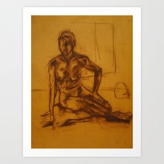 Seated woman Art Print