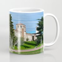 medieval Mugs featuring Medieval Fortress by Art-Motiva