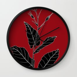Rock Pituri (Also known as Bone Marrow Tobacco) - Nicotiana gossei Wall Clock