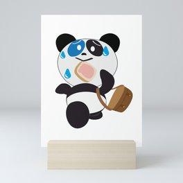 Panda Bear Late at School Toast Mini Art Print