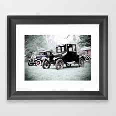 Horseless Carriage Framed Art Print