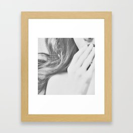 lay your worries down Framed Art Print