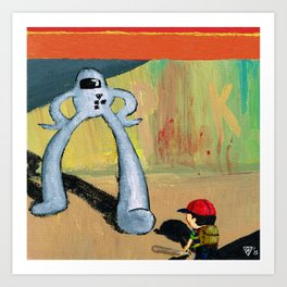 Ness Battles The Starmen Art Print