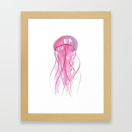 Ocean Collection: Fired up Jellyfish Framed Art Print