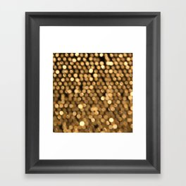 BOKEH GOLD Framed Art Print