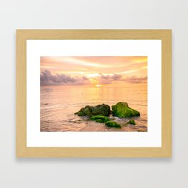 Glowing Caribbean Sunset Fine Art Print Framed Art Print