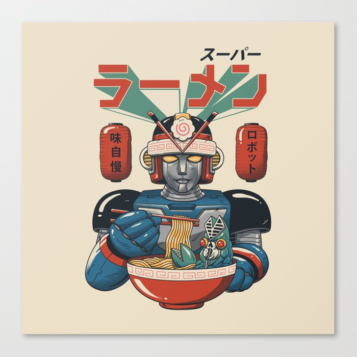 Super Ramen Bot Canvas Print