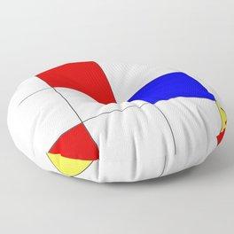 Primary Grid Floor Pillow
